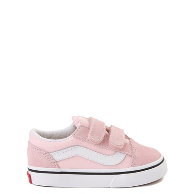 Main view of Vans Old Skool V Skate Shoe - Baby / Toddler - Blushing Pink