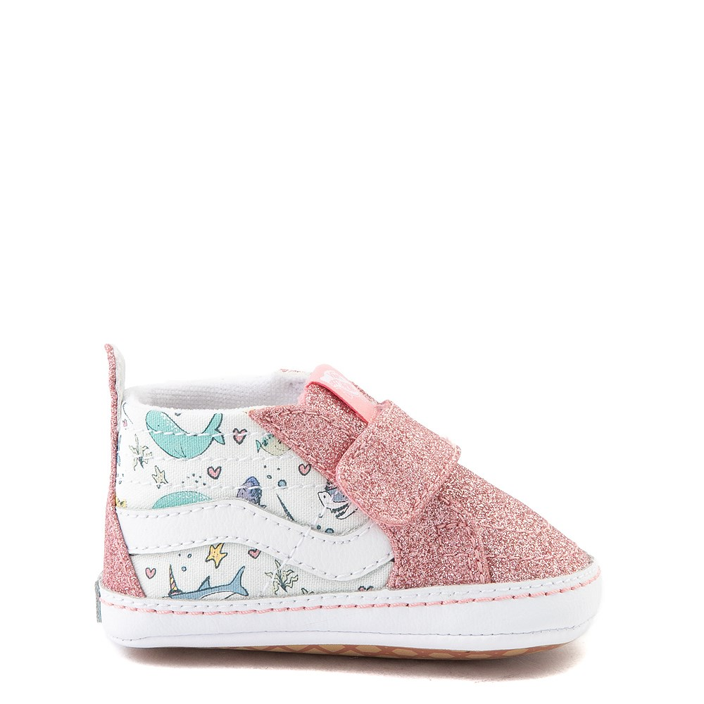 Vans Sk8 Hi V Shark Party Skate Shoe - Baby - Pink