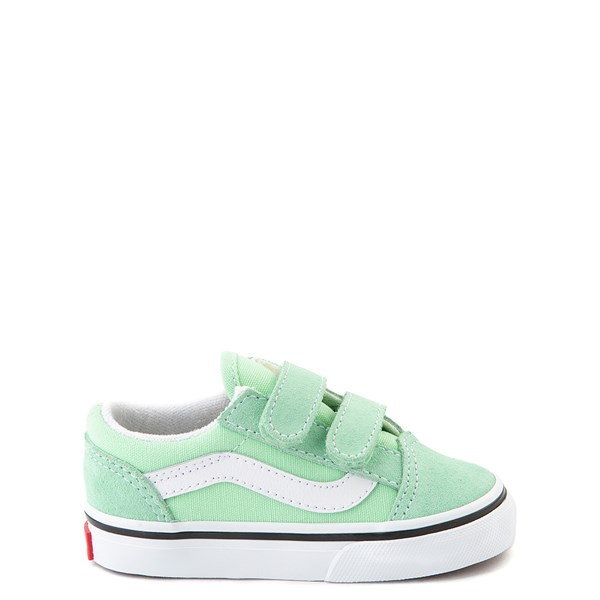 Default view of Vans Old Skool V Skate Shoe - Baby / Toddler - Green Ash
