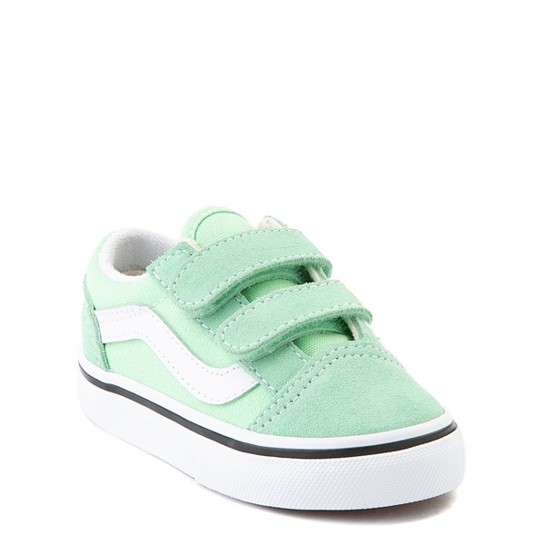 Alternate view of Vans Old Skool V Skate Shoe - Baby / Toddler - Green Ash