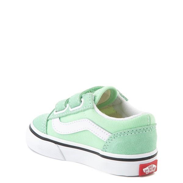 alternate view Vans Old Skool V Skate Shoe - Baby / Toddler - Green AshALT2