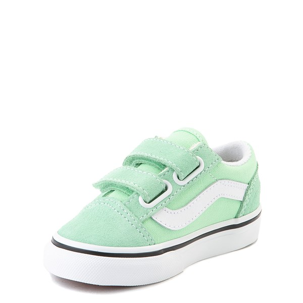 alternate view Vans Old Skool V Skate Shoe - Baby / Toddler - Green AshALT3