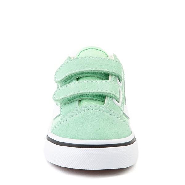 alternate view Vans Old Skool V Skate Shoe - Baby / Toddler - Green AshALT4