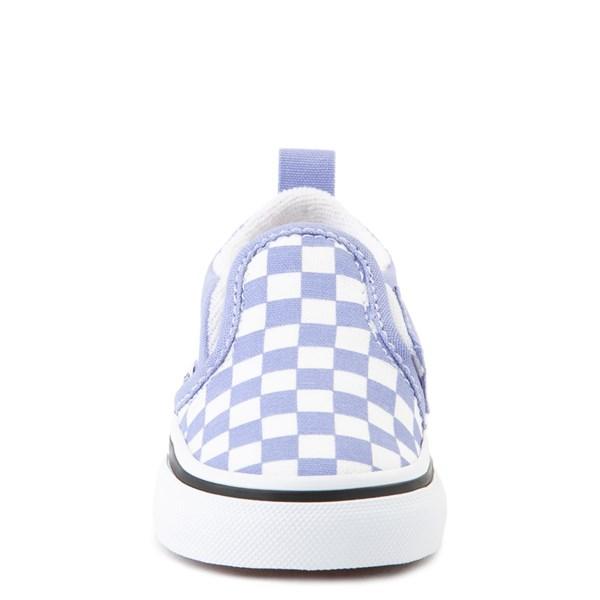 alternate view Vans Slip On V Checkerboard Skate Shoe - Baby / Toddler - Pale Iris / WhiteALT4