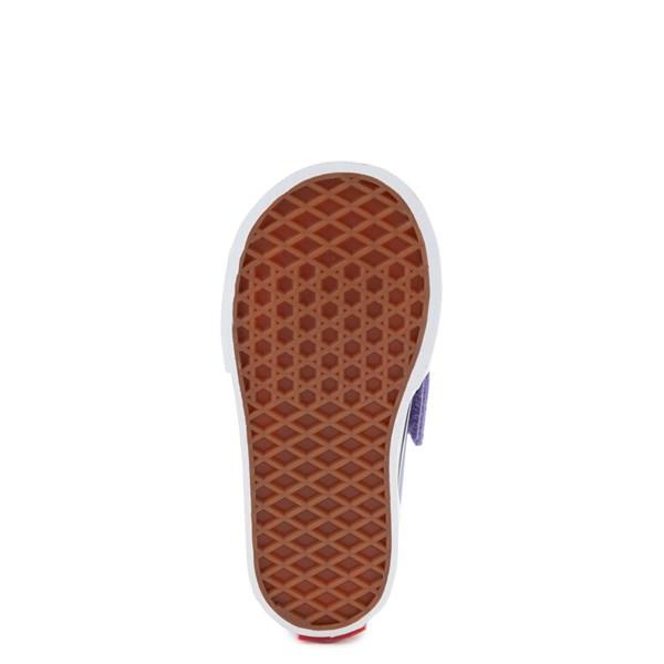 alternate view Vans Slip On V Checkerboard Skate Shoe - Baby / Toddler - Pale Iris / WhiteALT5