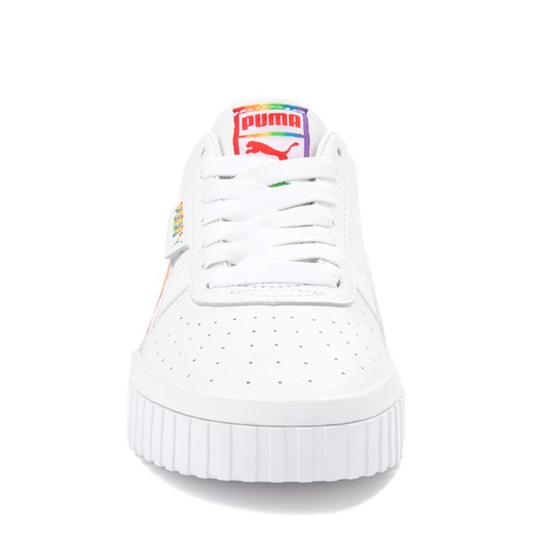 alternate view Womens Puma Cali Fashion Athletic Shoe - White / MultiALT4