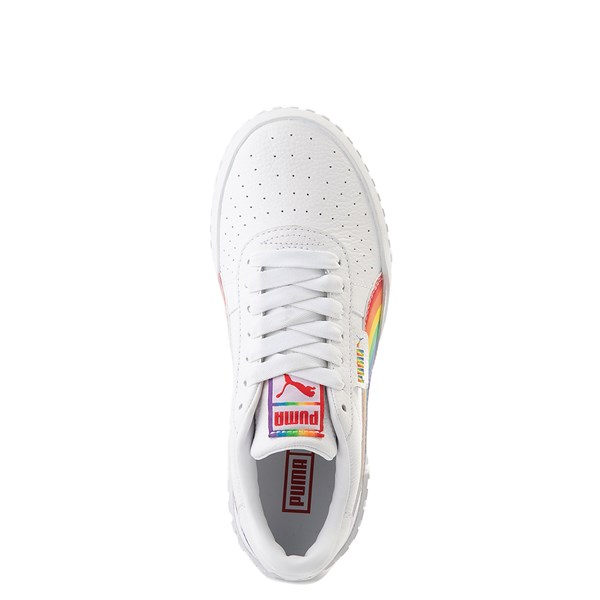 alternate view Womens Puma Cali Fashion Athletic Shoe - White / MultiALT4B