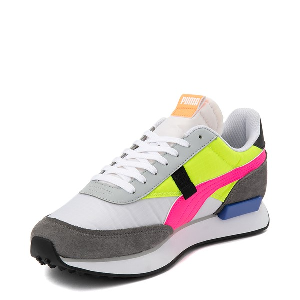 alternate view Womens Puma Future Rider Play On Athletic Shoe - White / Yellow / Pink / GrayALT2