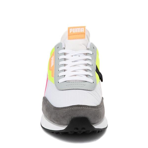 alternate view Womens Puma Future Rider Play On Athletic Shoe - White / Yellow / Pink / GrayALT4