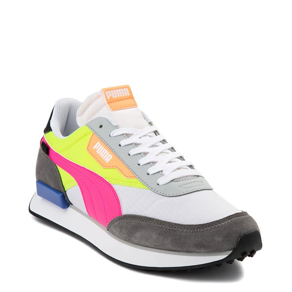 alternate view Womens Puma Future Rider Play On Athletic Shoe - White / Yellow / Pink / GrayALT5