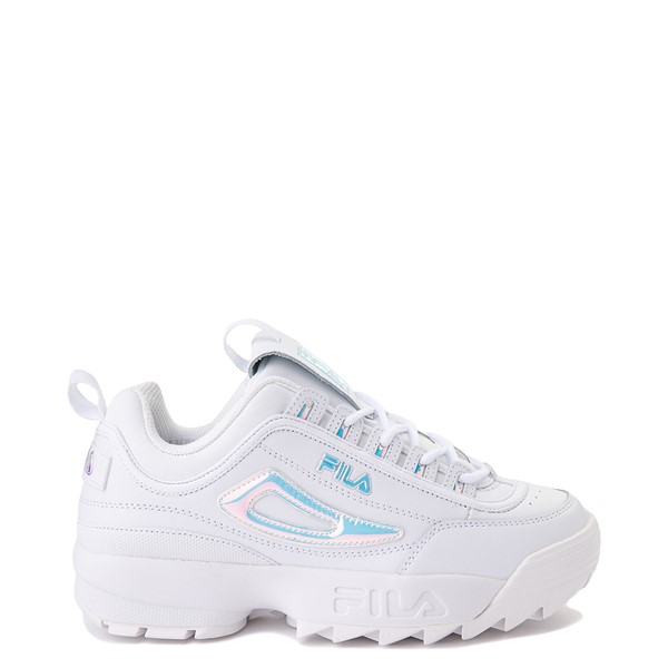 Womens Fila Disruptor 2 Premium Athletic Shoe - White / Iridescent