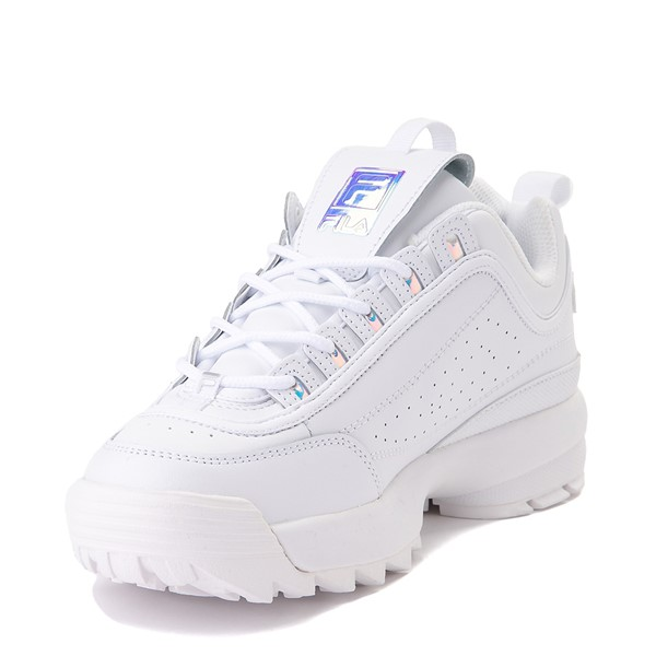 alternate view Womens Fila Disruptor 2 Premium Athletic Shoe - White / IridescentALT2