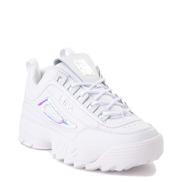 alternate view Womens Fila Disruptor 2 Premium Athletic Shoe - White / IridescentALT5