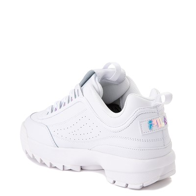 Alternate view of Womens Fila Disruptor 2 Premium Athletic Shoe - White / Iridescent