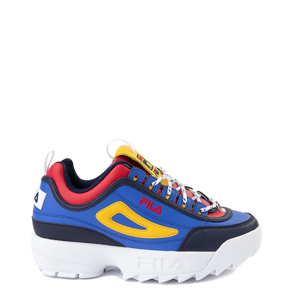 Womens Fila Disruptor 2 Athletic Shoe - Blue / Red / Yellow