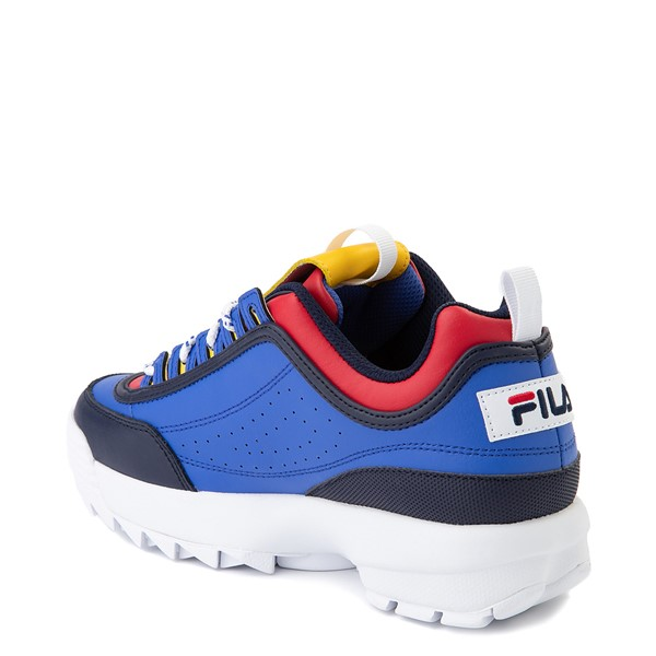 alternate view Womens Fila Disruptor 2 Athletic Shoe - Blue / Red / YellowALT1
