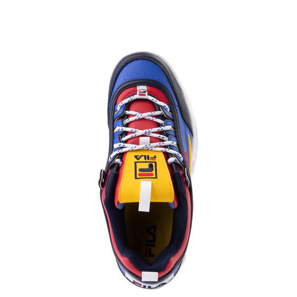 alternate view Womens Fila Disruptor 2 Athletic Shoe - Blue / Red / YellowALT2
