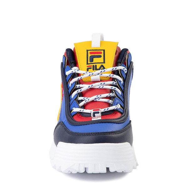 alternate view Womens Fila Disruptor 2 Athletic Shoe - Blue / Red / YellowALT4