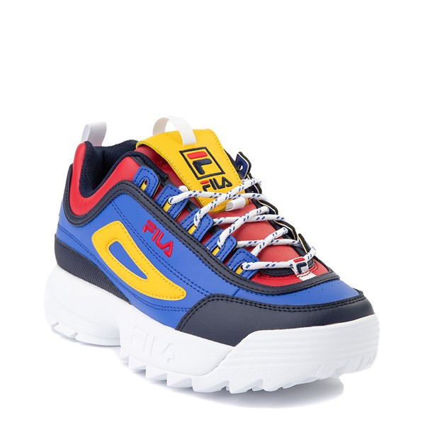 alternate view Womens Fila Disruptor 2 Athletic Shoe - Blue / Red / YellowALT5