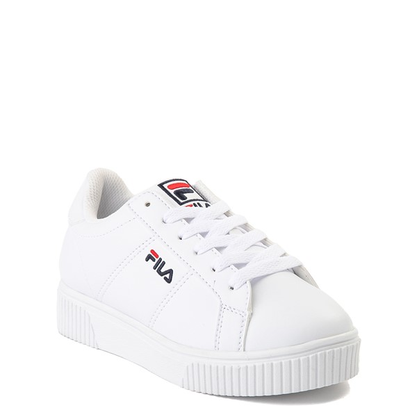 alternate view Fila Panache Platform Athletic Shoe - Little Kid - WhiteALT5