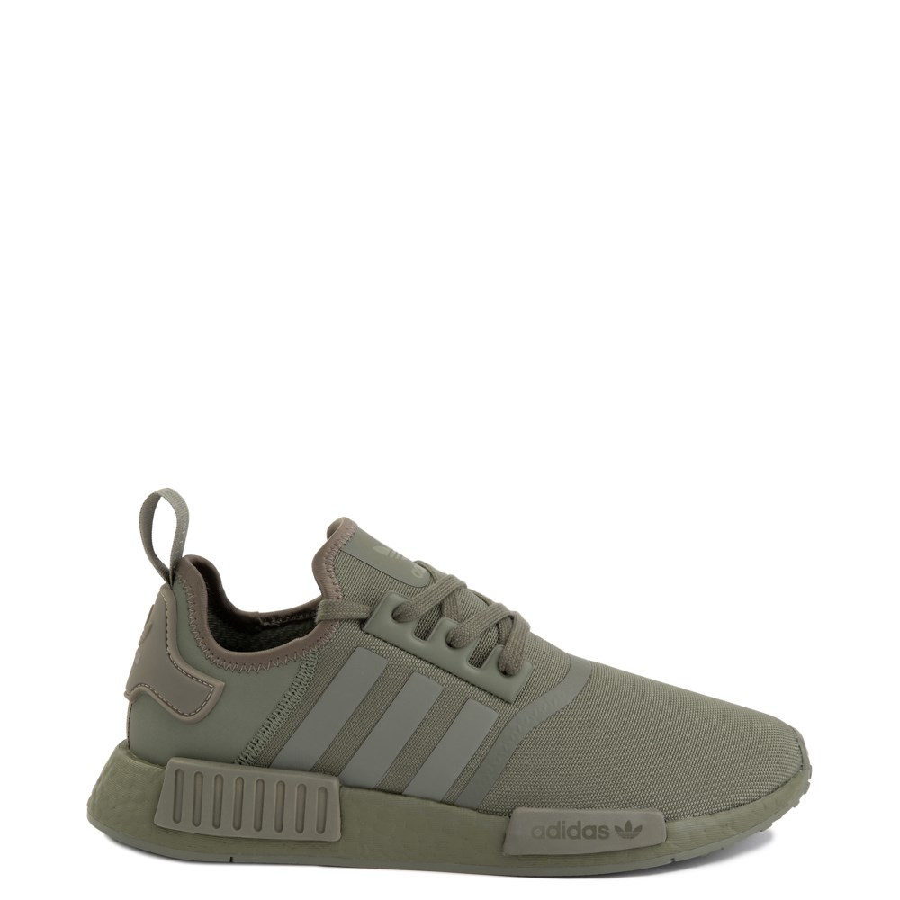 Mens adidas NMD R1 Athletic Shoe - Olive Monochrome