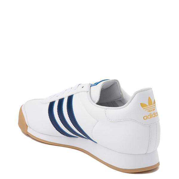 alternate view Mens adidas Samoa Athletic Shoe - White / Tech IndigoALT1