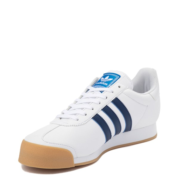 alternate view Mens adidas Samoa Athletic Shoe - White / Tech IndigoALT2