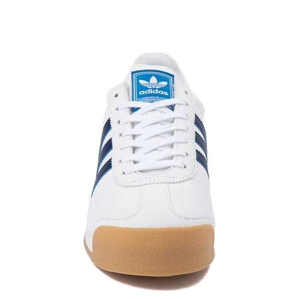 alternate view Mens adidas Samoa Athletic Shoe - White / Tech IndigoALT4