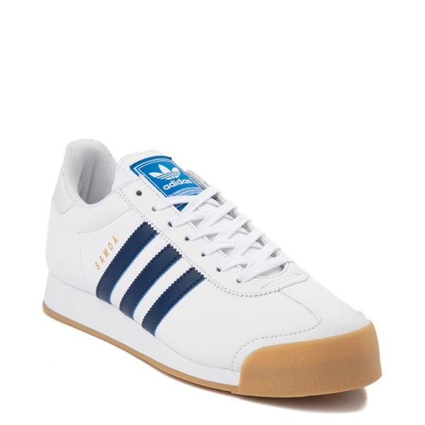alternate view Mens adidas Samoa Athletic Shoe - White / Tech IndigoALT5