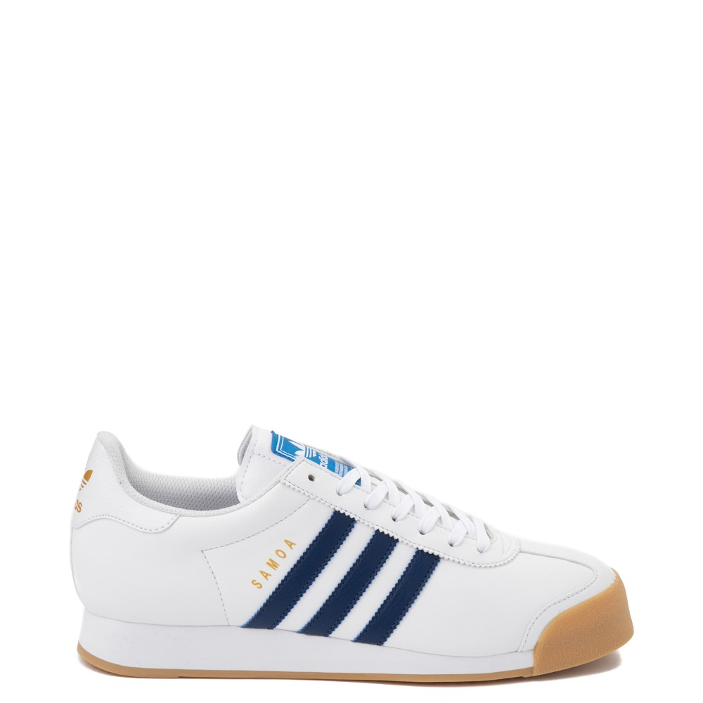 Mens adidas Samoa Athletic Shoe - White / Tech Indigo