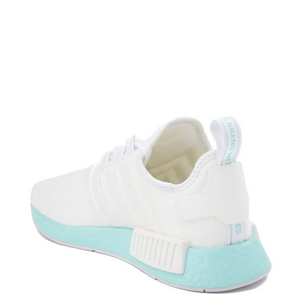 alternate view Womens adidas NMD R1 Athletic Shoe - White / Clear AquaALT2
