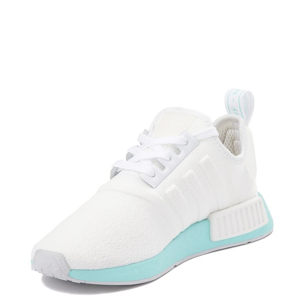 alternate view Womens adidas NMD R1 Athletic Shoe - White / Clear AquaALT3