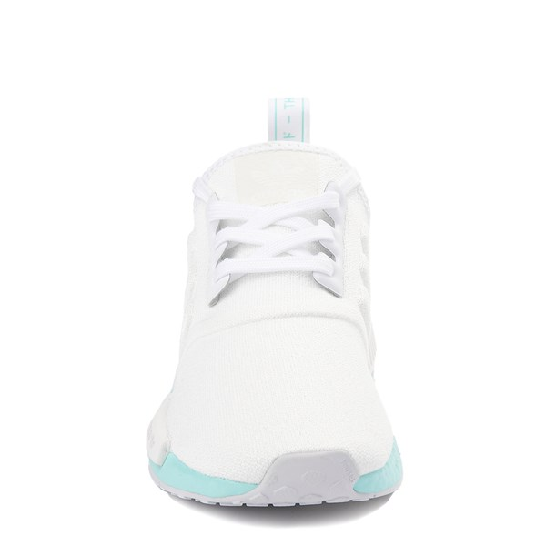 alternate view Womens adidas NMD R1 Athletic Shoe - White / Clear AquaALT4