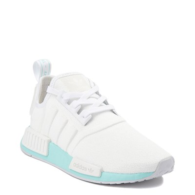 Alternate view of Womens adidas NMD R1 Athletic Shoe - White / Clear Aqua