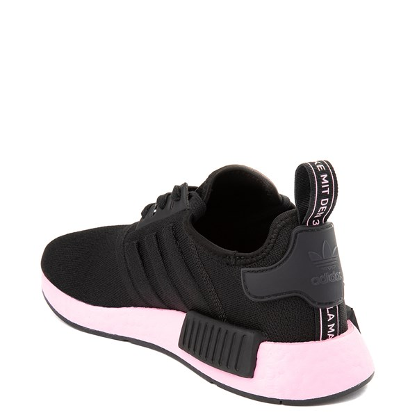 alternate view Womens adidas NMD R1 Athletic Shoe - Black / True PinkALT2