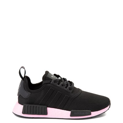 Main view of Womens adidas NMD R1 Athletic Shoe - Black / True Pink
