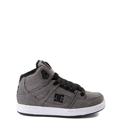 Main view of DC Pure Hi TX SE Skate Shoe - Little Kid / Big Kid - Dark Gray