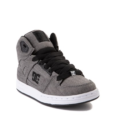 Alternate view of DC Pure Hi TX SE Skate Shoe - Little Kid / Big Kid - Dark Gray