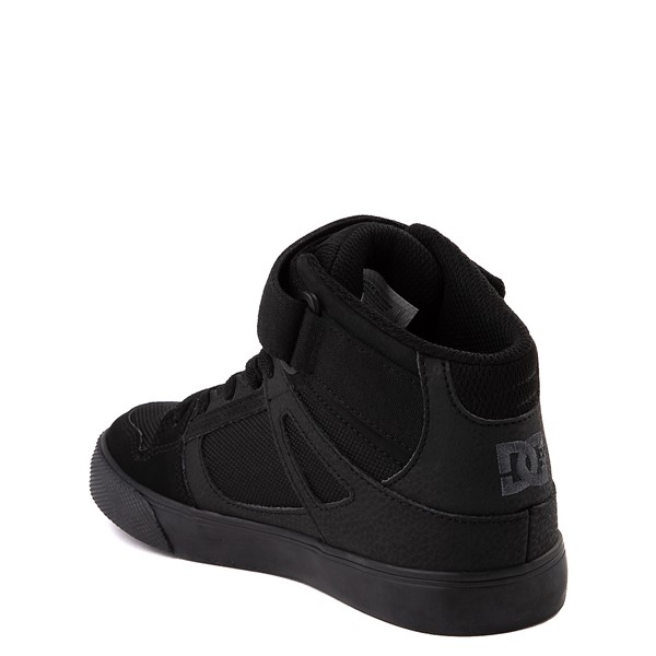 alternate view DC Pure Hi EV Skate Shoe - Little Kid / Big Kid - Black MonochromeALT1