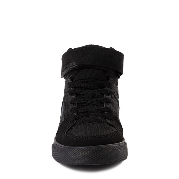 alternate view DC Pure Hi EV Skate Shoe - Little Kid / Big Kid - Black MonochromeALT4
