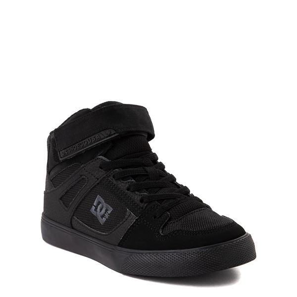 alternate view DC Pure Hi EV Skate Shoe - Little Kid / Big Kid - Black MonochromeALT5