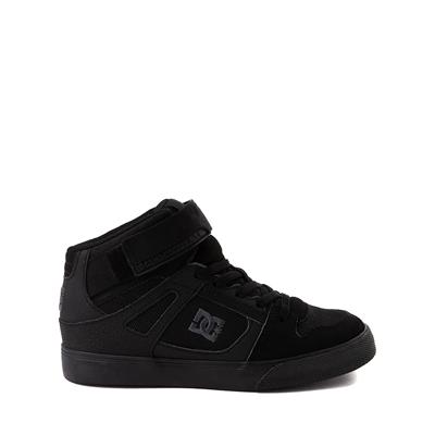Main view of DC Pure Hi EV Skate Shoe - Little Kid / Big Kid - Black Monochrome