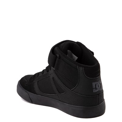 Alternate view of DC Pure Hi EV Skate Shoe - Little Kid / Big Kid - Black Monochrome