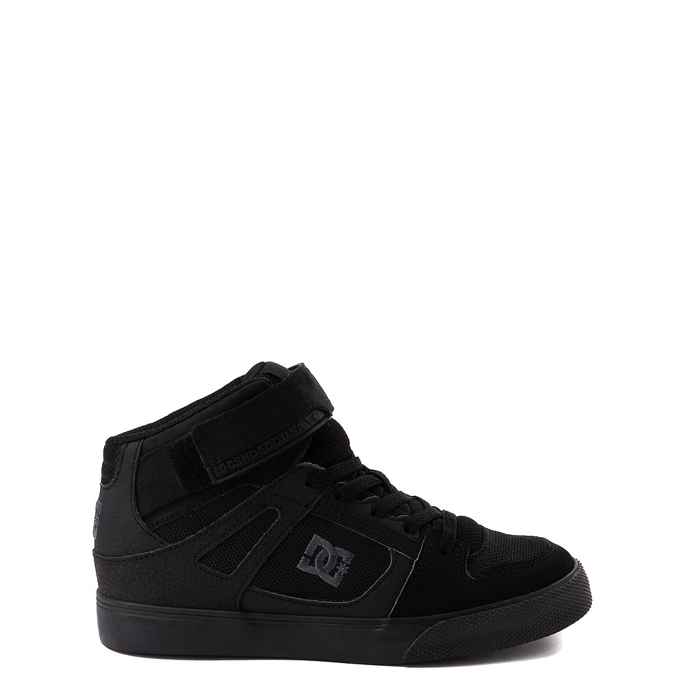 DC Pure Hi EV Skate Shoe - Little Kid / Big Kid - Black Monochrome
