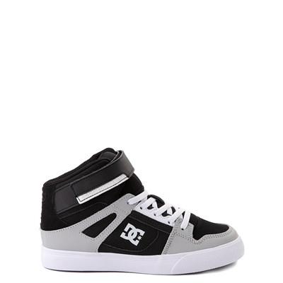 Main view of DC Pure Hi EV Skate Shoe - Little Kid / Big Kid - Black / Gray