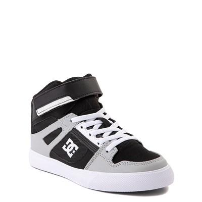 Alternate view of DC Pure Hi EV Skate Shoe - Little Kid / Big Kid - Black / Gray