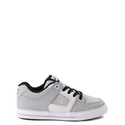 Main view of DC Pure Elastic Skate Shoe - Little Kid / Big Kid - Gray / White
