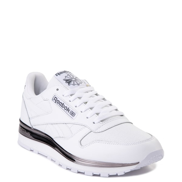 alternate view Mens Reebok Classic Athletic Shoe - White / CharcoalALT5