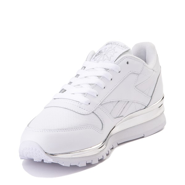 alternate view Womens Reebok Classic Athletic Shoe - White / ChromeALT2