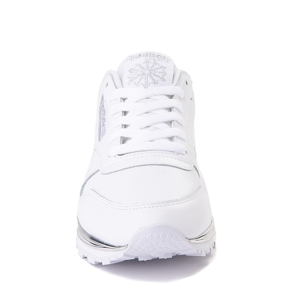 alternate view Womens Reebok Classic Athletic Shoe - White / ChromeALT4